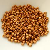 Minos Par Puca® 5 grams - Matte Bronze Gold - 2.5x3mm Cylinder Czech Glass Beads