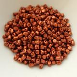 Minos Par Puca® 5 grams - Matte Bronze Red - 2.5x3mm Cylinder Czech Glass Beads