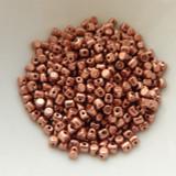 Minos Par Puca® 5 grams - Matte Copper Gold - 2.5x3mm Cylinder Czech Glass Beads