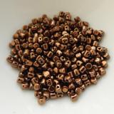 Minos Par Puca® 5 grams - Dark Bronze - 2.5x3mm Cylinder Czech Glass Beads