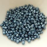 Minos Par Puca® 5 grams - Matte Metallic Blue - 2.5x3mm Cylinder Czech Glass Beads