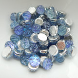Baroque Cabochon (25 Beads) 7mm 2-Hole Backlit Violet Ice Czech Glass