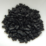 Half Tila Two Hole Beads Matte Black 5 Grams Miyuki Glass Beads No. 401f