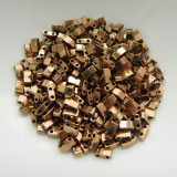Half Tila Two Hole Beads Dark Bronze 5 Grams Miyuki Glass Beads No. 457