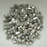 Half Tila Two Hole Beads Galvanized Gray Luster 5 Grams Miyuki Glass Beads No. 1865