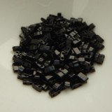 Half Tila Two Hole Beads Black 5 Grams Miyuki Glass Beads No. 401