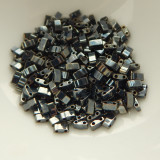 Half Tila Two Hole Beads Gunmetal 5 Grams Miyuki Glass Beads No. 464