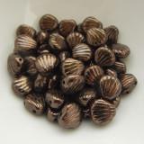 Shelly™ Shells (20 Beads) Jet Chocolate Bronze, 8mm 2-hole Czech Glass