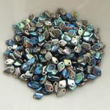 5mm Dragon® Scale Drop 5 grams Crystal Graphite Rainbow Czech Glass Beads