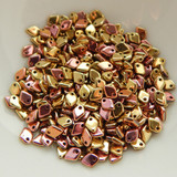 5mm Dragon® Scale Drop 5 grams Jet California Pink Czech Glass Beads