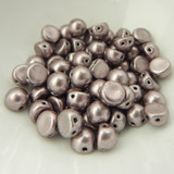 Cabochon 7mm 2-Hole (25 beads) Saturated Metallic Almost Mauve CzechMates