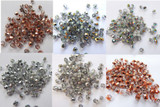 Firepolish 4mm Czech Glass Special Half Coat Colors (100 beads) - Choose Colors