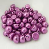 Cabochon 7mm 2-Hole (25 beads) Saturated Metallic Spring Crocus CzechMates