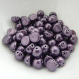 Cabochon 7mm 2-Hole (25 beads) Saturated Metallic Tawny Port CzechMates