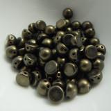 Cabochon 7mm 2-Hole (25 beads) Metallic Suede Dark Green CzechMates