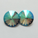 14mm 1122 Swarovski Rivoli (2 Pieces) Crystal Paradise Shine Foiled