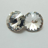 14mm 1122 Swarovski Rivoli (2 Pieces) Crystal Foiled