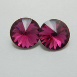 14mm 1122 Swarovski Rivoli (2 Pieces) Fuchsia Foiled