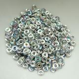Czech Glass O Bead Crystal Silver Rainbow Silver 5 grams