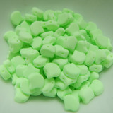 Ginko (35 Beads) Bondeli Matte Lime 7.5mm x 7.5mm 2-hole Czech Glass by Matubo