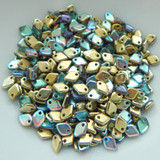 5mm Dragon Scale Drop Crystal Golden Rainbow (5 Grams) Czech Glass Beads