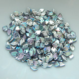 5mm Dragon Scale Drop Crystal Silver Rainbow (5 Grams) Czech Glass Beads
