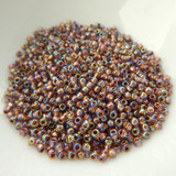 11/0 TOHO 25 grams Seed Beads Copper-Lined Rainbow Lt Amethyst No. 1809