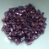 Half Tila Two Hole Beads Amethyst Gold Luster 5 Grams Miyuki Glass Beads No. 316
