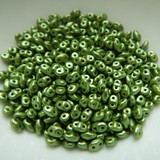 Miniduo Two hole beads Pastel Olivine 10 grams by Matubo