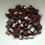 5MM Tila 5 grams Two Hole Beads Opaque Red Picasso Miyuki No. 4521