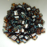 5MM Tila 5 grams Two Hole Beads Transparent Dark Amber Picasso Miyuki No. 4502