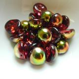 14mm Dome Czech Glass Crystal Magic Apple (5 beads)