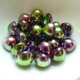 14mm Dome Czech Glass Crystal Magic Orchid (5 beads)