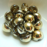 14mm Dome Czech Glass Crystal Amber (5 beads)