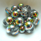 14mm Dome Czech Glass Crystal Vitrail (5 beads)