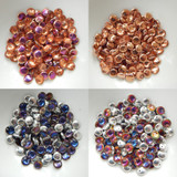 Lentil Top-drilled Special Finishes (50 Beads) - Choose Color Czech Glass