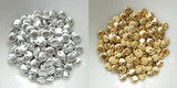 Lentil Top-drilled Metallic Finishes (50 Beads) - Choose Color Czech Glass