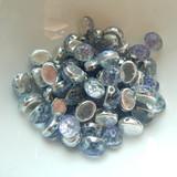 Baroque Oval (25 Beads) 8x6mm 2-Hole Backlit Violet Ice Czech Glass