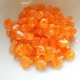 Ginko (35 Beads) Confetti Splash Orange Yellow 7.5mm x 7.5mm 2-hole Czech Glass by Matubo