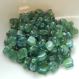 Ginko (35 Beads) Confetti Splash Blue Green 7.5mm x 7.5mm 2-hole Czech Glass by Matubo