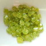 Ginko (35 Beads) Confetti Splash Yellow Green 7.5mm x 7.5mm 2-hole Czech Glass by Matubo