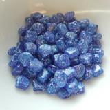 Ginko (35 Beads) Confetti Splash Indigo 7.5mm x 7.5mm 2-hole Czech Glass by Matubo