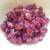 Ginko (35 Beads) Confetti Splash Violet Red 7.5mm x 7.5mm 2-hole Czech Glass by Matubo