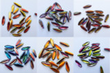 25 Beads - 5x16mm Dagger Czech Glass Magic Wine