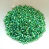 1.8mm Miyuki Cube 10 grams - Transparent Green AB - Glass Seed Bead No. 179