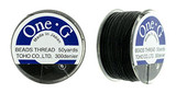 Black TOHO One-G Nylon Beading Thread 50 Yard Spool - (1 Spool)