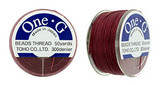 Burgundy TOHO One-G Nylon Beading Thread 50 Yard Spool - (1 Spool)