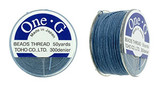 Blue TOHO One-G Nylon Beading Thread 50 Yard Spool - (1 Spool)