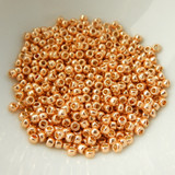 25 grams - TOHO Round 8/0 - PermaFinish Galvanized Rose Gold - No. PF551 - Seed Beads