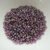 25 grams - TOHO Round 8/0 - Gold Lustered Hydrangea - No. 206 - Seed Beads